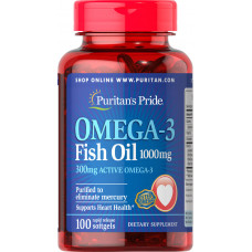 Omega-3 Fish Oil 1000 mg (300 mg Active Omega-3)