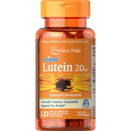 Lutein 20 mg with Zeaxanthin - 120 Softgel