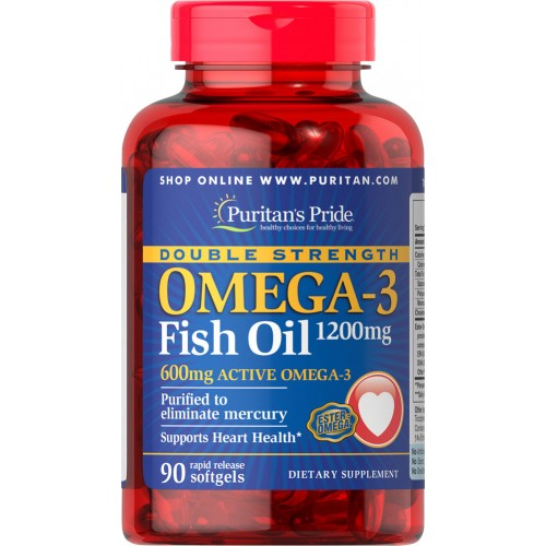 Double Strength Omega-3 Fish Oil 1200 mg/600 mg Omega-3