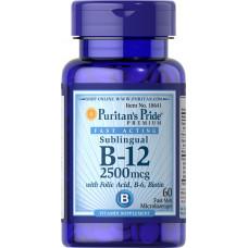Vitamin B-12 2500 mcg Sublingual with Folic Acid, Vitamin B-6 and Biotin