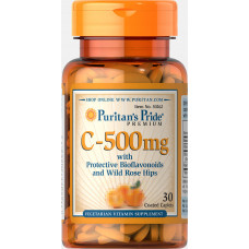 Vitamin C-500 mg with Protective Bioflavonoids and Wild Rose Hips Trial Size