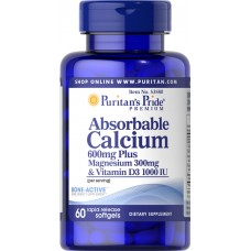 Absorbable Calcium 600mg plus Magnesium 300mg & Vitamin D 1000iu